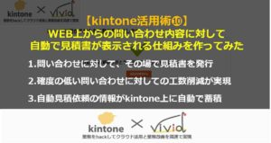 kintoneならホームページ上で見積書の自動作成?!【動画】