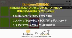 kintoneで作った申請書がスマホアプリに!?現場が楽々運用