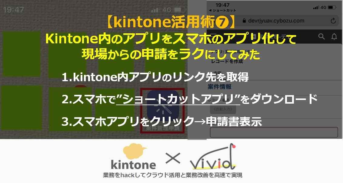 kintoneアプリをスマホアプリに変換して使ってみよう